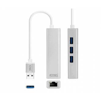 NANOCABLE CONVERSOR USB 3.0 A ETHERNET GIGABIT 10/100/1000 MBPS 15CM