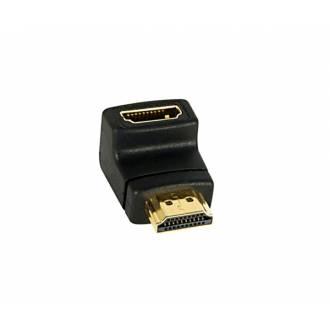 ADAPTADOR HDMI TIPO A (19p) MACHO ---> HEMBRA ACODADO