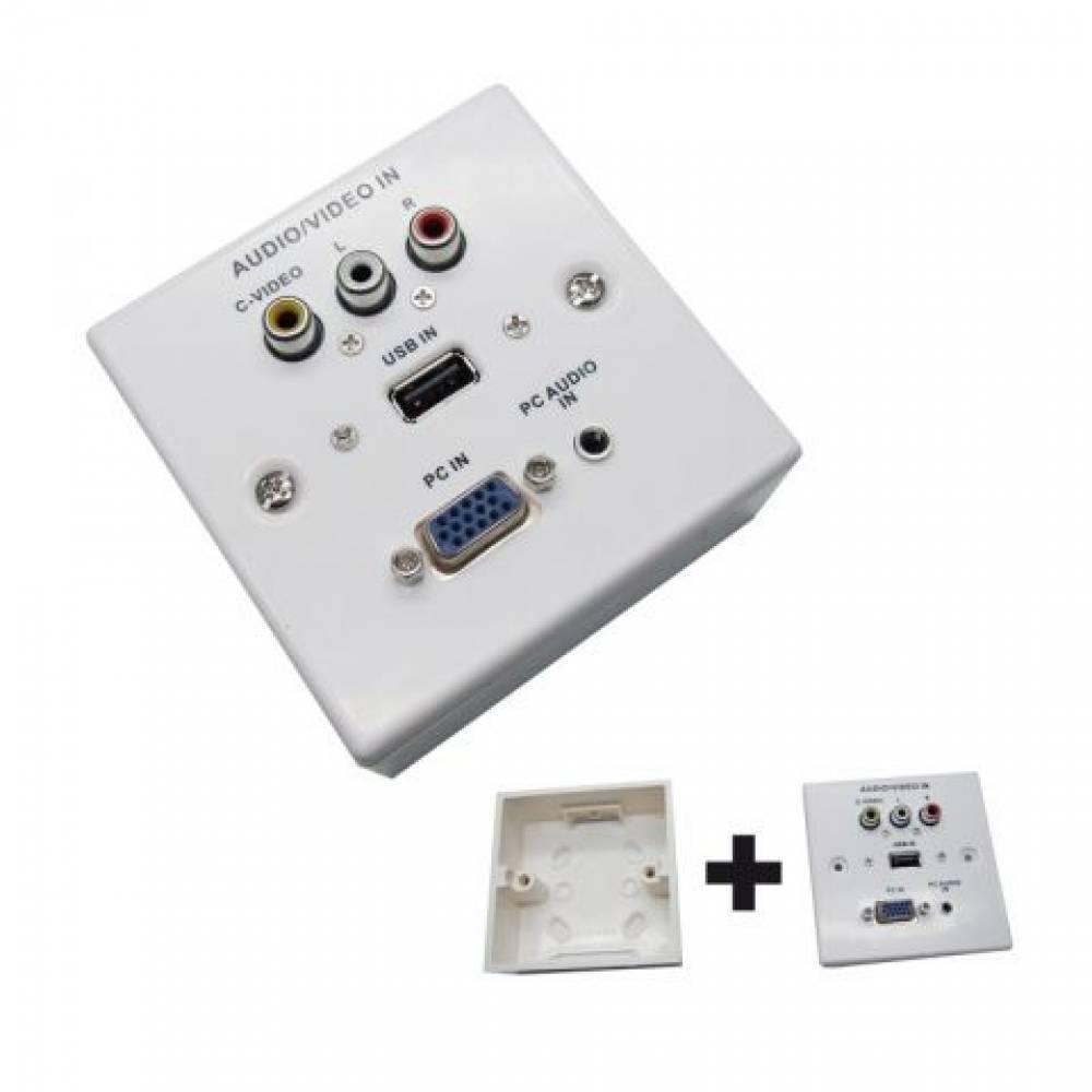 ROSETA MULTIMEDIA VGA - AUDIO/VIDEO RCA + JACK - USB (PLASTICO)