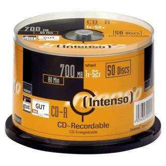INTENSO CD ROM 700MB 52X 80MIN TARRINA 50 UDS / PRECIO UNITARIO