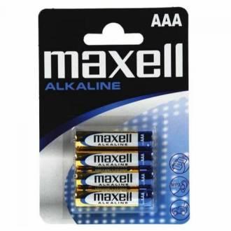 PILAS ALCALINAS MAXELL AAA 1.5V - 4 PILAS