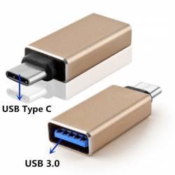 ADAPTADOR OTG USB 3.1 TIPO C A USB TIPO A HEMBRA