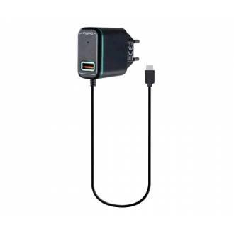 CARGADOR DOMO A2816 TYPE-C 2.4A + 1*USB NEGRO AZUL