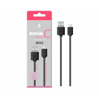 CABLE USB MACHO 2.0 TIPO A - USB 3.1 TIPO C - 1 MTS - NEGRO/ROJO 8041 ONE+