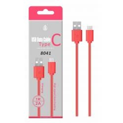 CABLE USB MACHO 2.0 TIPO A - USB 3.1 TIPO C - 1 MTS - ROJO 8041 ONE+