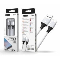 CABLE DATOS USB 3.0 A TYPE-C B6242 2.4A 1 METRO BLANCO