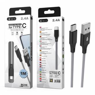 CABLE DATOS USB 3.0 A TYPE-C B6248 2.4A 1 METRO