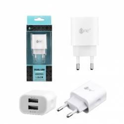 ALIMENTADOR USB DE PARED 5V 2.1A - 2 PUERTOS USB