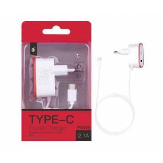 CARGADOR RED TIPO C + 1 PUERTO USB ROJO P5418