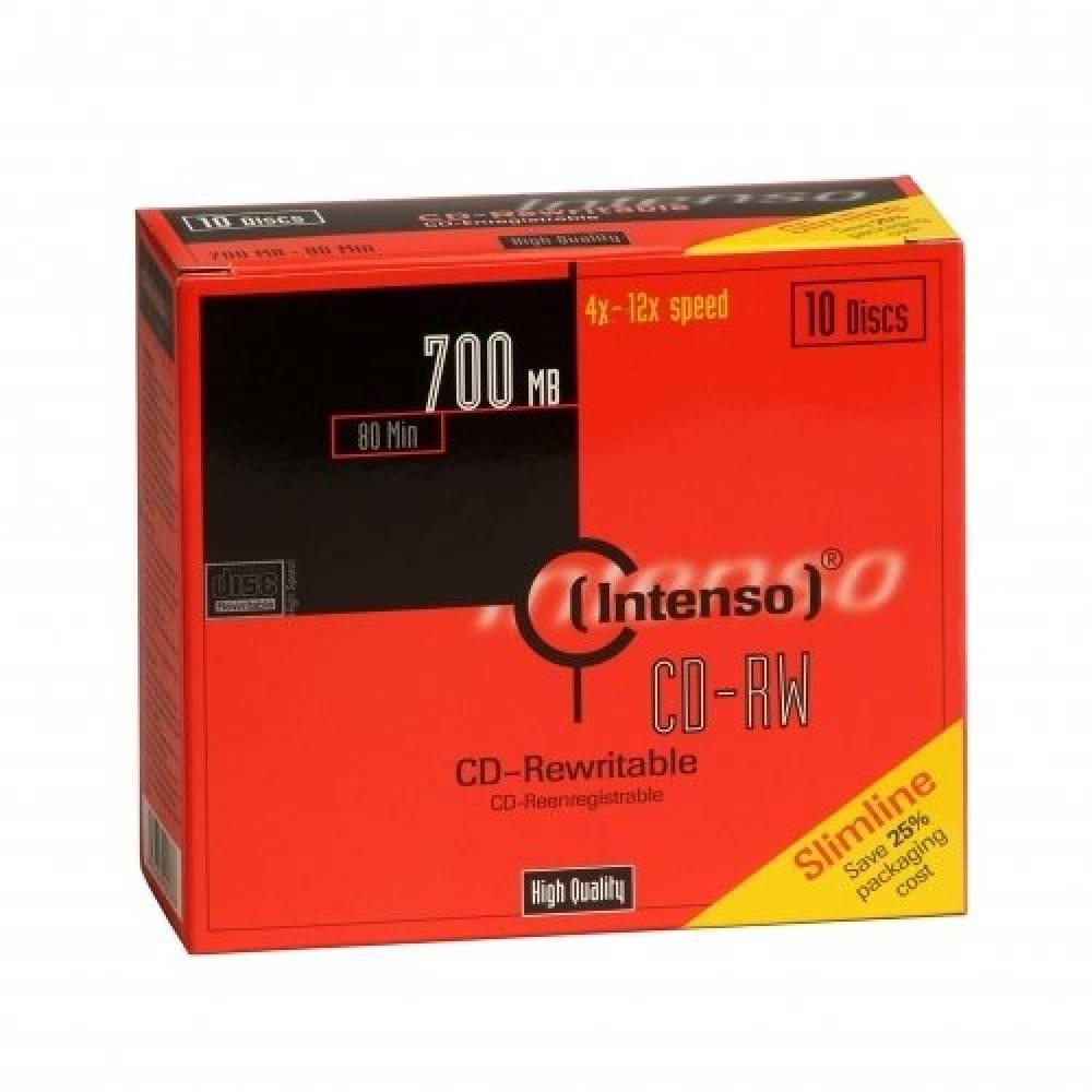 INTENSO CD-RW 700MB (CAJA DE 10, PRECIO UNITARIO)