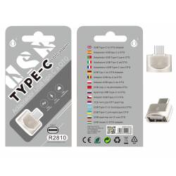 ADAPTADOR OTG USB 3.1 TIPO C A USB TIPO A HEMBRA R2810
