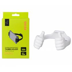 SOPORTE HU108 THUMBS UP MOVIL- TABLET BLANCO ONE+
