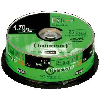 INTENSO TARRINA DVD-R 4.7GB 25UDS