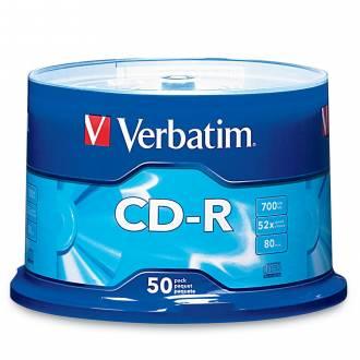 VERBATIM CD ROM 700MB 52X 80MIN TARRINA 50 UDS / PRECIO UNITARIO