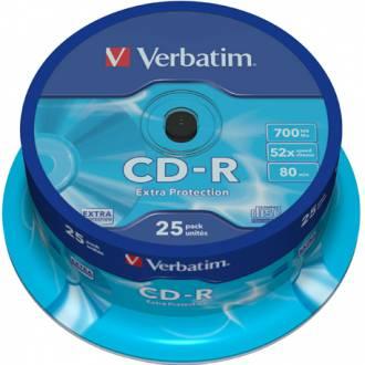 VERBATIM CD ROM 700MB 52X 80MIN TARRINA 25 UDS / PRECIO UNITARIO