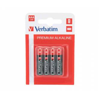 VERBATIM PACK 4 PILAS ALCALINAS AAA LR03