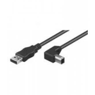 CABLE USB 2.0 TIPO A-B MACHO ---> MACHO DE 2 Mts. ANGULADO