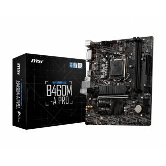PLACA BASE MSI B460M-A PRO 1200 MATX 4*DDR4 HDMI DVI-D NVME RAID