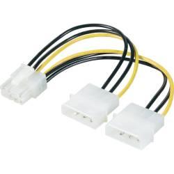 ADAPTADOR DE ALIMENTACION 2 x MOLEX 4/M a PCI 8 Pin/H