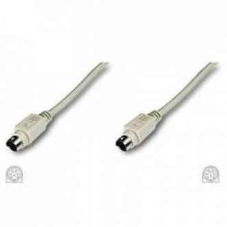 CABLE EXTENSION 6 MINIDIN PS2 MACHO --->  MACHO DE 1,8 Mts.