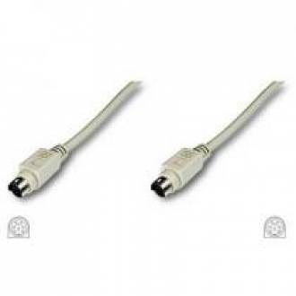 CABLE PS2 TECLADO IBM PS2 MACHO ---> MACHO DE 5 Mts.