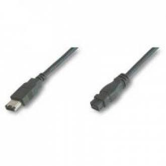 CABLE ADAPTADOR FIREWIRE 800 IEEE 1394B 9-6 PINES MACHO ---> MACHO 1.8 Mts.