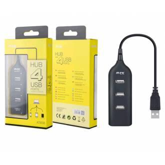 MTK HUB 4 PUERTOS USB 2.0 NEGRO
