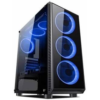 CAJA ORDENADOR ATX L-LINK AVATAR USB 3.0 LED AZUL CON VENTANA
