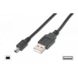 CABLE USB 2.0 TIPO A-B MINI USB MACHO ---> USB MACHO 4 PINES DE 3 Mts.