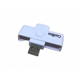 COOLBOX LECTOR EXTERNO DNI ELECTRONICO USB POCKET BLANCO