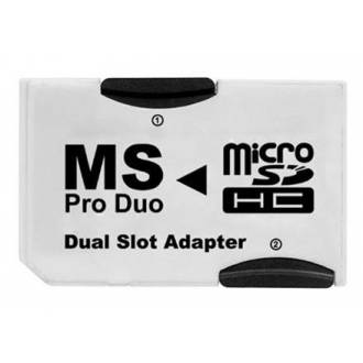 ADAPTADOR DOBLE MICRO SD MEMORY STICK
