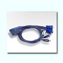 ATEN CONMUTADOR KVM 2X1 USB + AUDIO