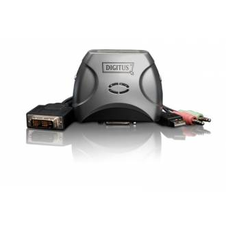 DIGITUS CONMUTADOR KVM USB DVI Y AUDIO 2x1