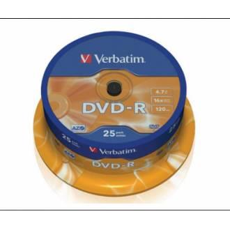 VERBATIM DVD-R 4.7GB 16X 120MIN CAJA 25 UDS