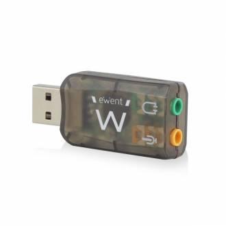EWENT TARJETA DE SONIDO EXTERNA USB 2.0 EW3751