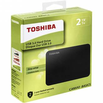 DISCO DURO EXTERNO TOSHIBA 2TB CANVIO BASICS 2.5