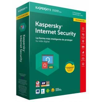 ANTIVIRUS KASPERSKY 2018 INTERNET SECURITY - 3 LICENCIAS - RENOVACION
