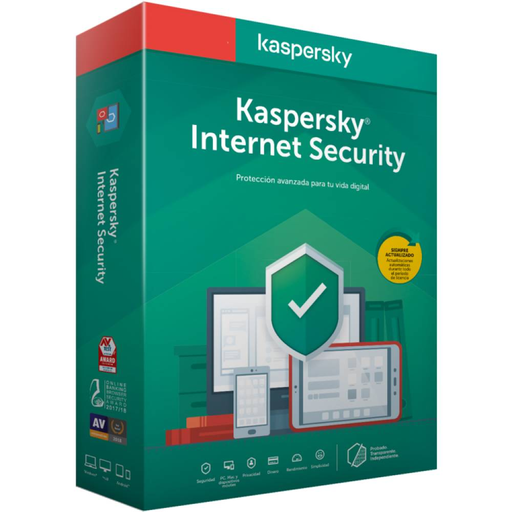 ANTIVIRUS KASPERSKY 2020 INTERNET SECURITY KL1939S5CFS-20 - 3 USUARIOS