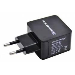 KLONER ALIMENTADOR USB DE PARED 5V 3.1A - 3 PUERTOS USB