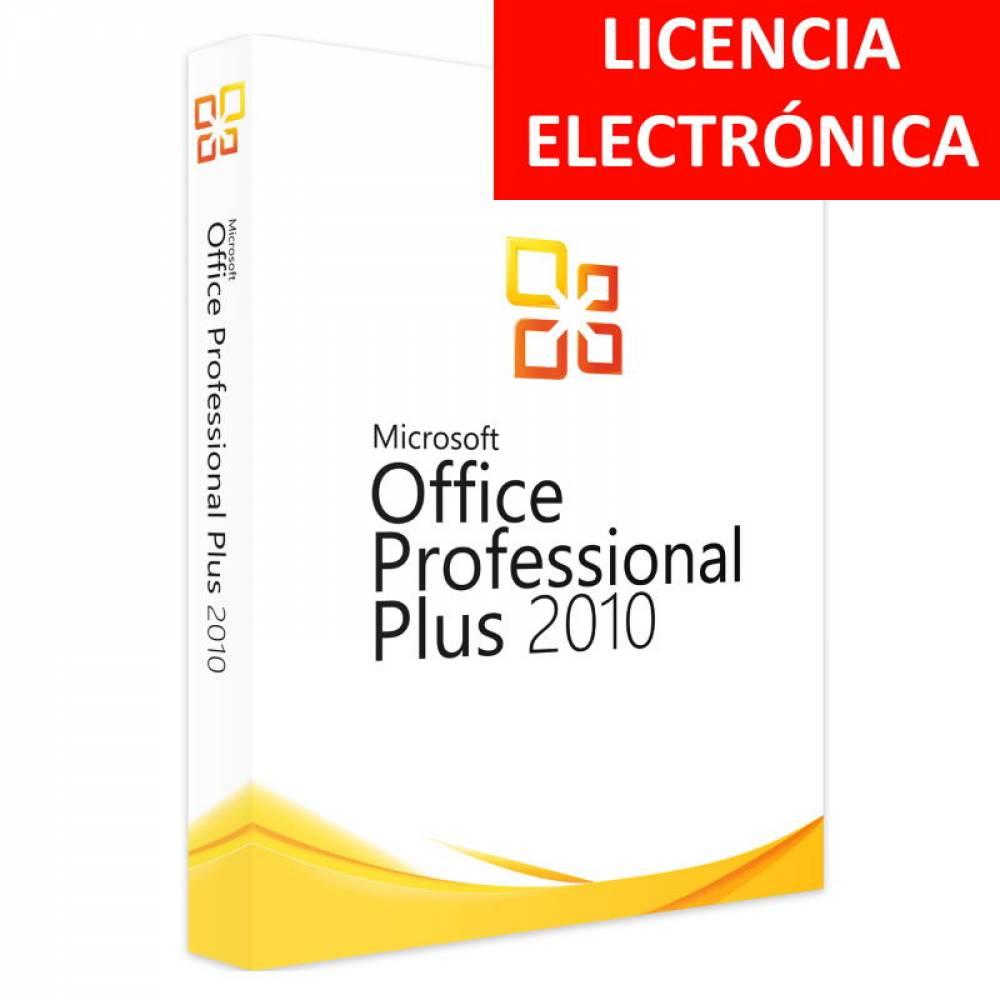 MICROSOFT OFFICE 2010 PROFESIONAL PLUS - LICENCIA ELECTRONICA (NO DVD/COA - SOLO CLAVE)