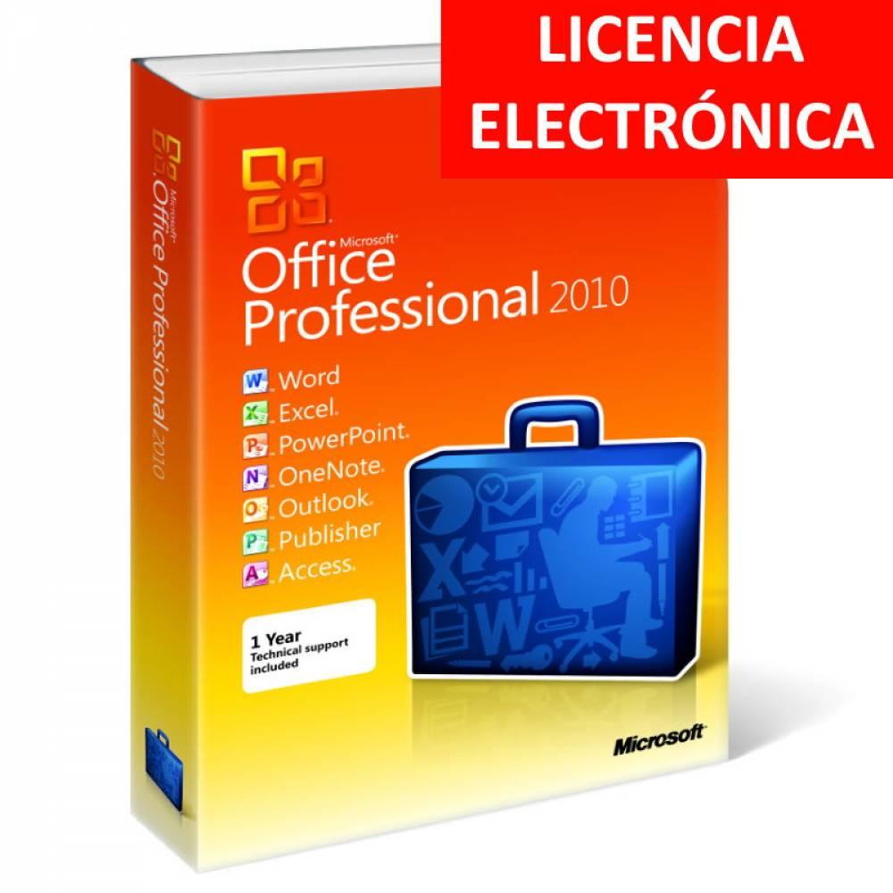 MICROSOFT OFFICE 2010 PROFESIONAL - LICENCIA ELECTRONICA (NO DVD/COA - SOLO CLAVE)