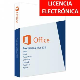 MICROSOFT OFFICE 2013 PROFESIONAL PLUS - LICENCIA ELECTRONICA (NO DVD/COA - SOLO CLAVE)