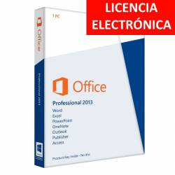 MICROSOFT OFFICE 2013 PROFESIONAL - LICENCIA ELECTRONICA (NO DVD/COA - SOLO CLAVE)
