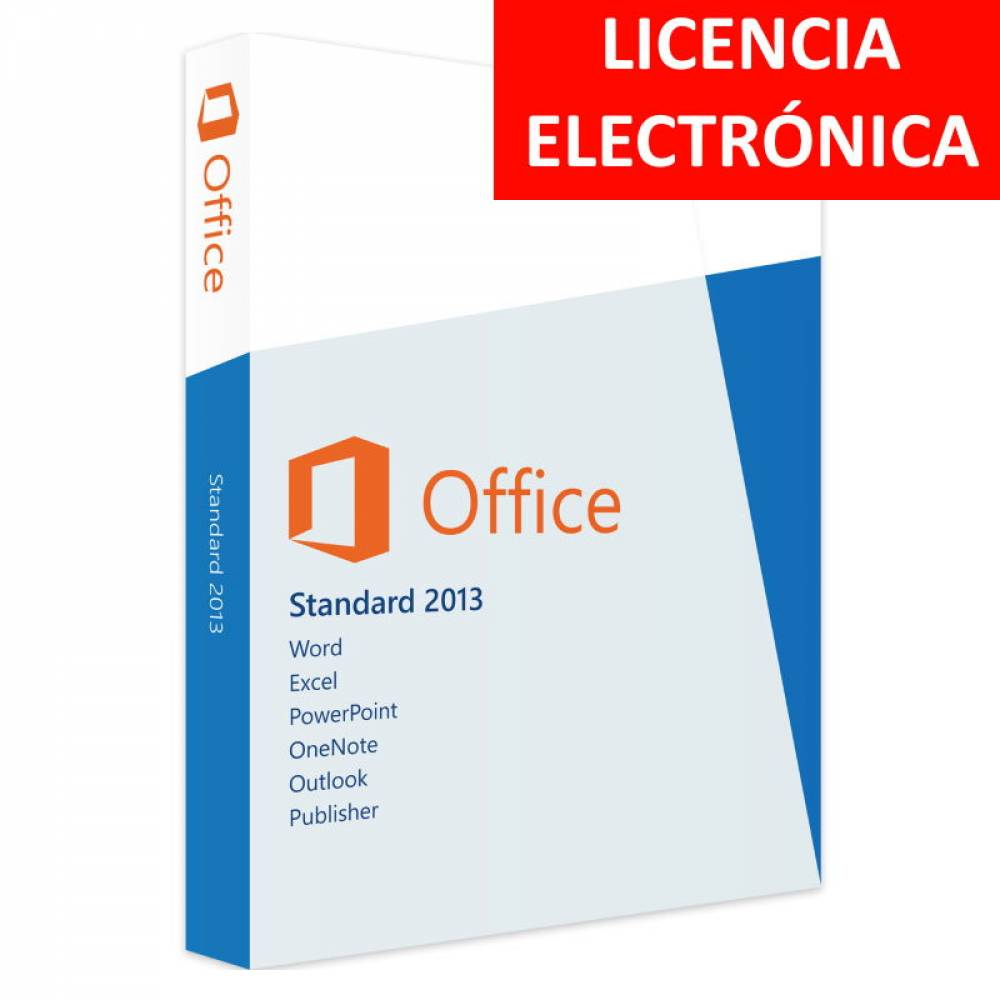 MICROSOFT OFFICE 2013 STANDARD - LICENCIA ELECTRONICA (NO DVD/COA - SOLO CLAVE)