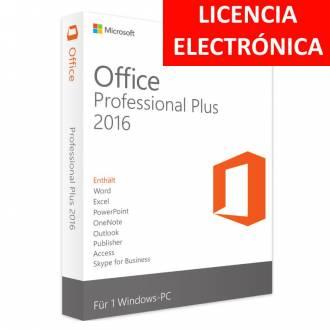 MICROSOFT OFFICE 2016 PROFESIONAL PLUS - LICENCIA ELECTRONICA (NO DVD/COA - SOLO CLAVE)
