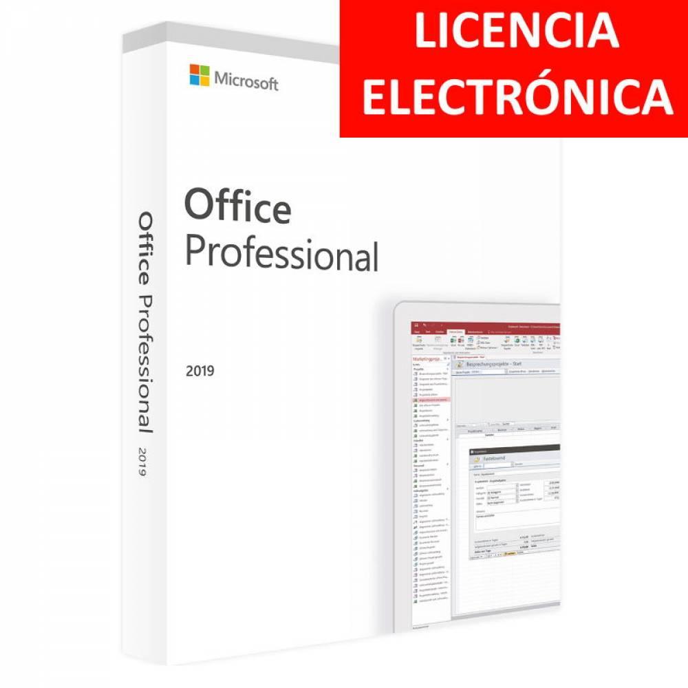 MICROSOFT OFFICE 2019 PROFESIONAL - LICENCIA ELECTRONICA (NO DVD/COA - SOLO CLAVE)