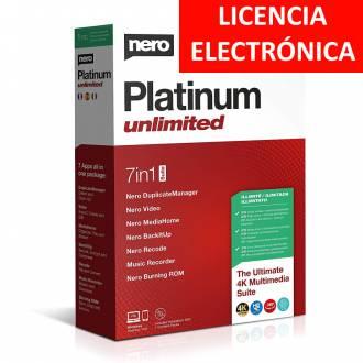 NERO PLATINUM 2020 UNLIMITED - LICENCIA ELECTRONICA (NO DVD - SOLO CLAVE)