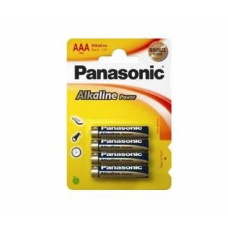 PANASONIC PACK 4 PILAS ALCALINAS AAA LR03