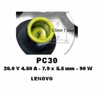 ALIMENTADOR ESPECIFICO 20V 4.5A - 7.9 x 5.5 mm - 90 W (LENOVO)