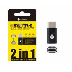ADAPTADOR USB TIPO C MACHO --> A MICRO USB HEMBRA R2809